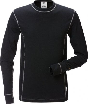 Fristads Flamestat Long Sleeve T-Shirt 7026 MOF (Black)